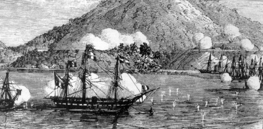 French ships at Danang 1858