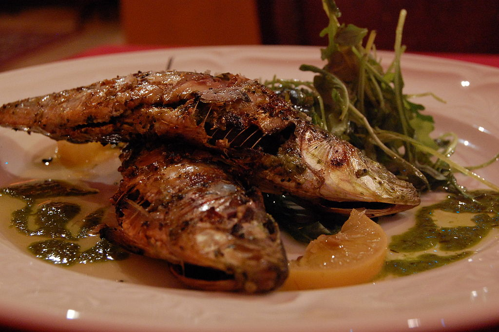 Fresh sardines with preserved lemon