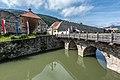 Friesach Olsatorbrücke Stadtgraben und Ringmauer im Osten 13092017 1011.jpg
