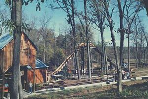 Holiday World & Splashin' Safari - An early photo of Frightful Falls showing what it looked like prior to the construction of The Legend in this area