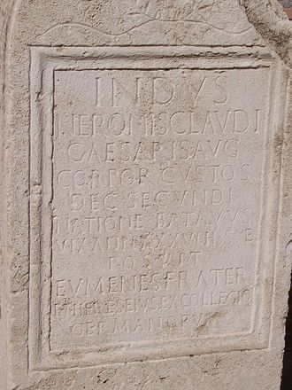 Revolt of the Batavi - Funerary stela of a Batavian member of the Corporis Custodes of Nero.