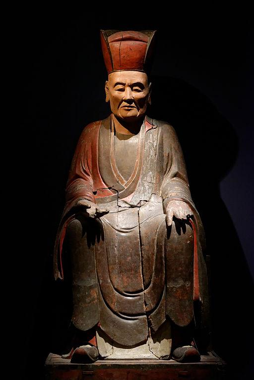 Portrait funéraire du moine Tuyên Anh, fondateur d'un monastère bouddihste à Hanoï, ère Lê ou Nguyễn. Musée d'histoire Vietnamienne © Marie-Lan Nguyen / Wikimedia Commons / CC-BY 2.5