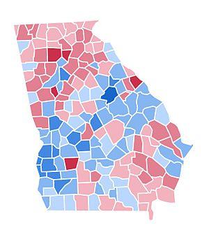 United States presidential election in Georgia, 1996 - Image: GA1996