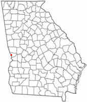 Location of Bibb City, Georgia