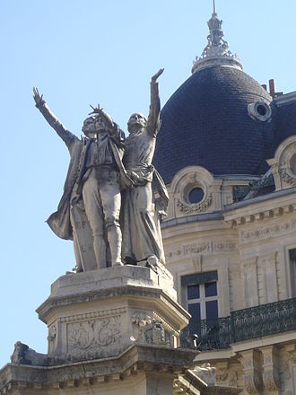 Henri Ding - Fountain of the three orders, in Grenoble (France).