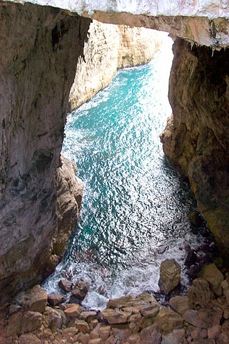 Gaeta - The natural sea grotto of the Turchi.