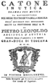 Gaetano Andreozzi - Catone in Utica - titlepage of the libretto - Florence 1787.png