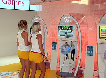 English: Booth of Nintendo, presenting Wii, on...