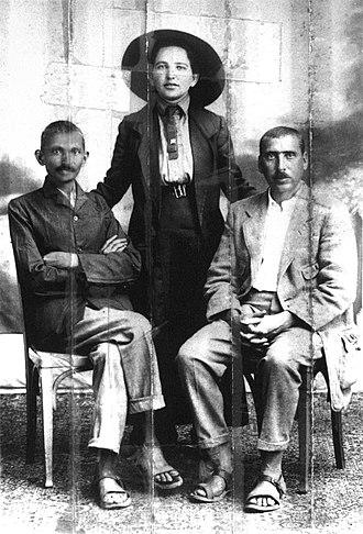 Hermann Kallenbach - Gandhi, Sonia Schlesin, and Kallenbach.