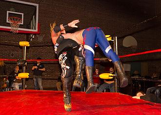 Gangrel (wrestler) - Gangrel performing the Impaler DDT
