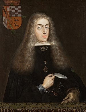 Gaspar de la Cerda, 8th Count of Galve - Image: Gaspar de la Cerda Sandoval Silva y Mendoza