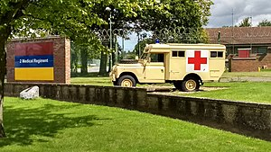 St George's Barracks, North Luffenham - Gate Guardian Military ambulance, St George's Barracks