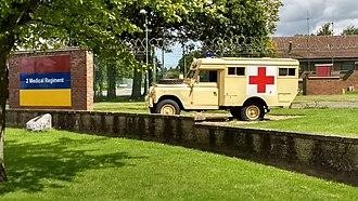 St George's Barracks, North Luffenham - Gate Guardian Military ambulance, St George's Barracks