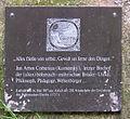 Gedenktafel Kirchgasse 62 (Neuk) Johann Amos Comenius.JPG