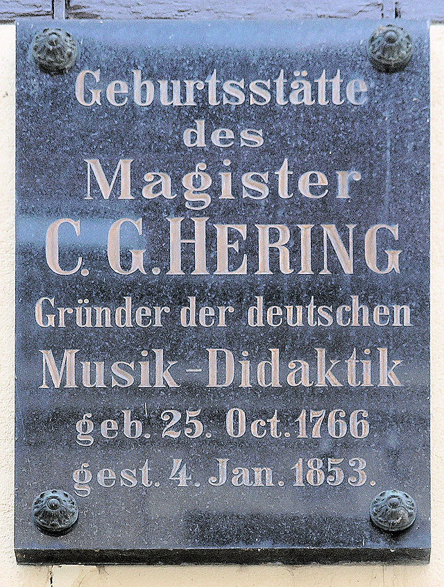 Photo of C. G. Hering black plaque