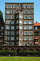 Geibelplatz 5 Hochhaus Glückauf Hannover Südstadt isoliertes Hochhaus mit Grünfläche.jpg