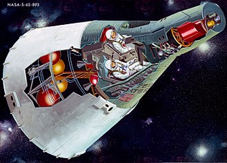 Project Gemini - A cutaway illustration of the Gemini spacecraft