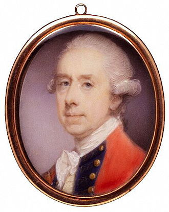 Thomas Gage - Miniature of Gage by Jeremiah Meyer, R.A., ca. 1775
