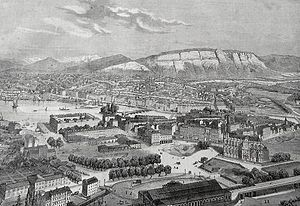 History of Geneva - View of Geneva in 1860