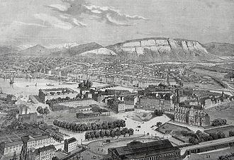 History of Geneva - View of Geneva in 1860