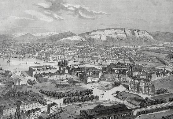 Geneve panorama 1860