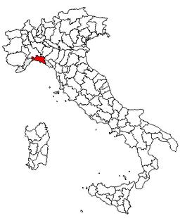 Italien Karta Genova.Genova Provins Wikipedia