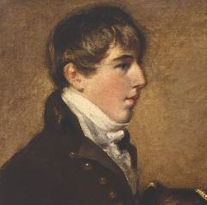 George Wilson Bridges - Bridges as a youth in 1804 - detail of a painting by John Constable