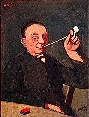 Autoportrait ou l'Homme à la pipe