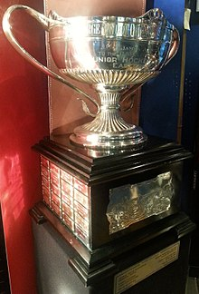George Richardson Memorial Trophy on display at the Hockey Hall of Fame