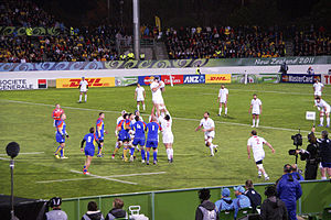 Romania at the Rugby World Cup - Image: Georgia vs Romania 2011 RWC (2)