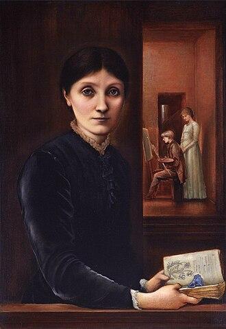 Edward Burne-Jones - Portrait of Georgiana Burne-Jones, with Philip and Margaret, 1883