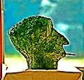 Gerhard Meier Büste mit Mary Long Zigarette – Skulptur von Pedro Meier – Frühwerk 1963, Kupfer-Zinn (erstmals ausgestellt im Kunstmuseum Luzern 1963 – Wettbewerb eidgenössisches Kunststipendium). Foto © Pedro Meier.jpg