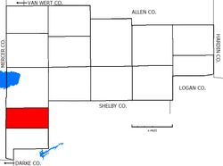 Location of German Township in Auglaize County