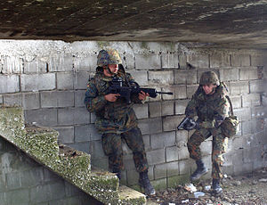 German soldiers during exercise Joint Resolve 26 in Bosnia and Herzegovina
