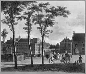 View of the Plaats with the Buitenhof and the Gevangenpoort, The Hague
