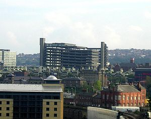 Trinity Square, Gateshead - Trinity Square car park seen from Newcastle Castle Keep