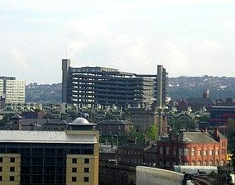 Trinity Square, Gateshead - Trinity Square car park seen from Newcastle Castle Keep