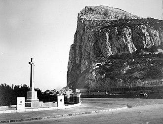 Gibraltar Cross of Sacrifice - Gibraltar Cross of Sacrifice in the 1920s