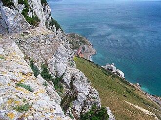 Caleta Hotel - Image: Gibraltar east coast