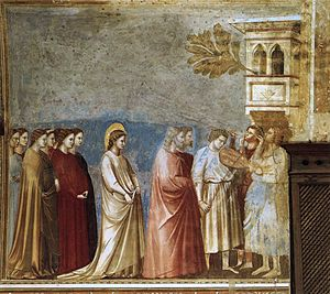 Giotto di Bondone - No. 12 Scenes from the Life of the Virgin - 6. Wedding Procession - WGA09184.jpg