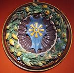Giovanni della robbia, stemma dei bonsi della ruota entro ghirlanda (85 cm), coll privata.JPG