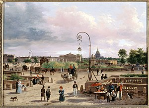 Paris during the Bourbon Restoration - Place Louis XVI (1829), now Place de la Concorde