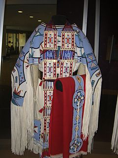 Juanita Growing Thunder Fogarty Assiniboine-Sioux bead artist, quillworker, and maker of traditional clothing and regalia