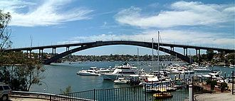 Huntleys Point, New South Wales - Image: Gladesville Bridge
