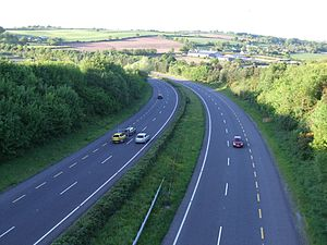 Motorways in the Republic of Ireland - This section of the N8 5km (3.1 miles) north of Cork City has been redesignated as motorway, effective 28 August 2009