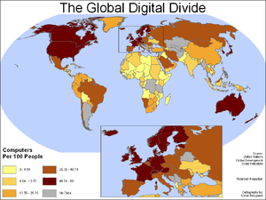 Global digital divide
