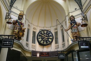 Gogmagog (giant) - Gog and Magog figures located in the Royal Arcade, Melbourne (Australia)