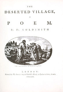 <i>The Deserted Village</i> poem by Oliver Goldsmith