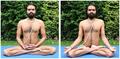 Goraksha Samhita's two asanas - Siddhasana and Padmasana.png