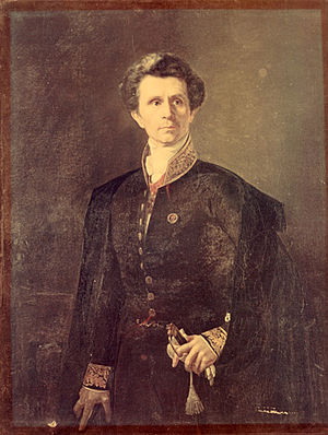 Alexey Tarasovich Markov - Alexey Markov. Portrait by  Kirill Gorbunov (1851)
